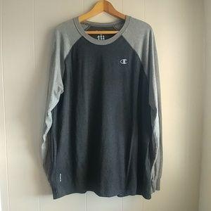 Champion Gray Vapor Long Sleeve Shirt Size XL